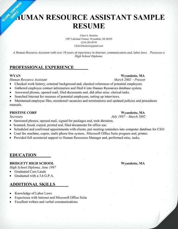 35 Lovely Entry Level Human Resources Resume for Ideas