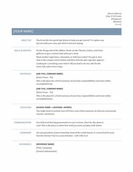 35 Nice Professional Resume Format with Design