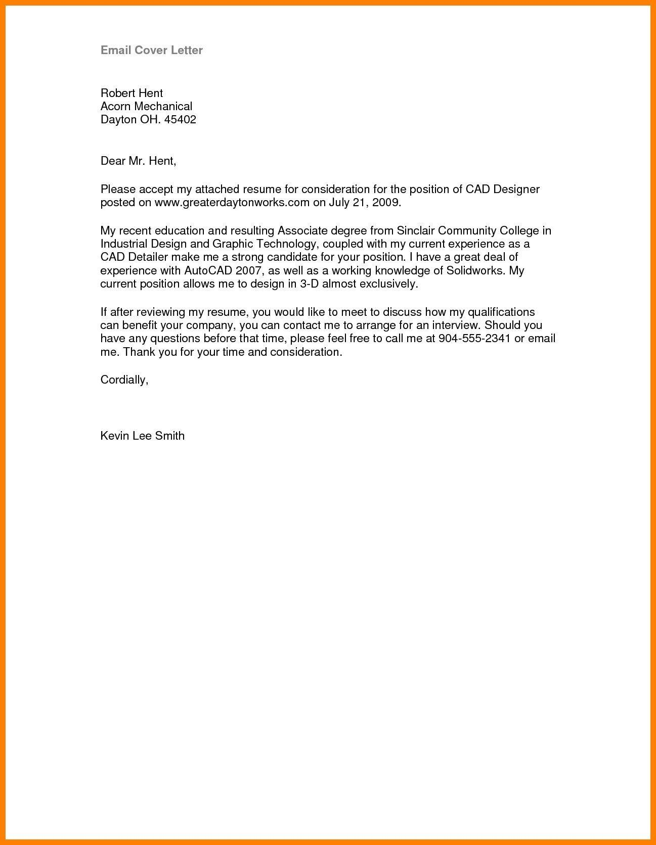 35 Top Email Cover Letter Sample for Pictures
