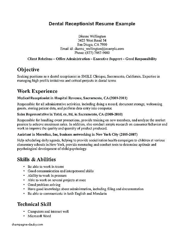36 Awesome Medical Front Desk Resume with Graphics