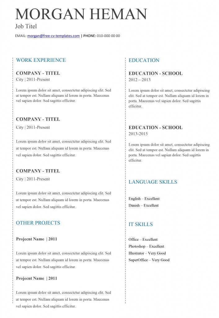 36 Best Easy Cv Template Free by Ideas