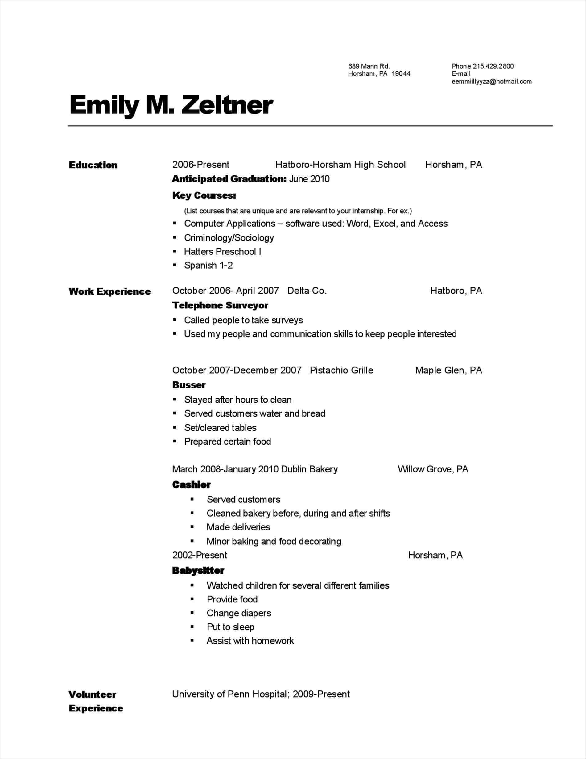 36 Best Food Runner Resume by Pics