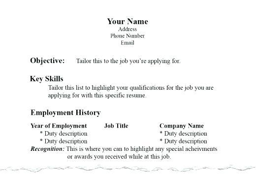 36 New Proper Resume Layout with Ideas