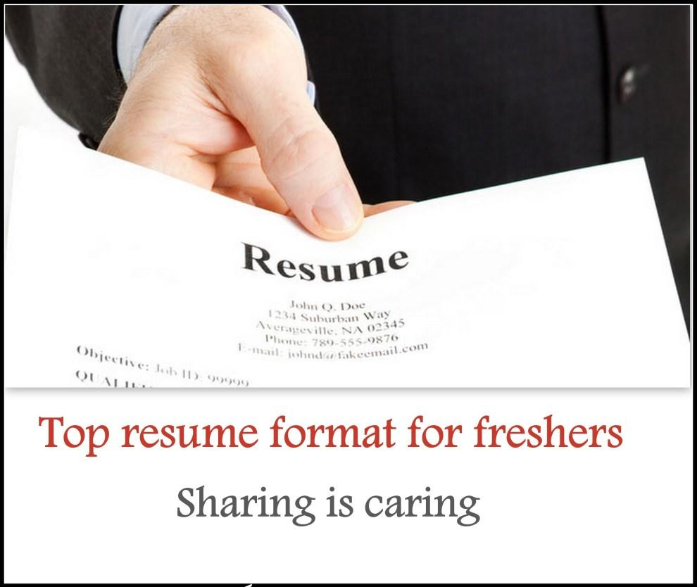 36 New Resume Format For Freshers by Design