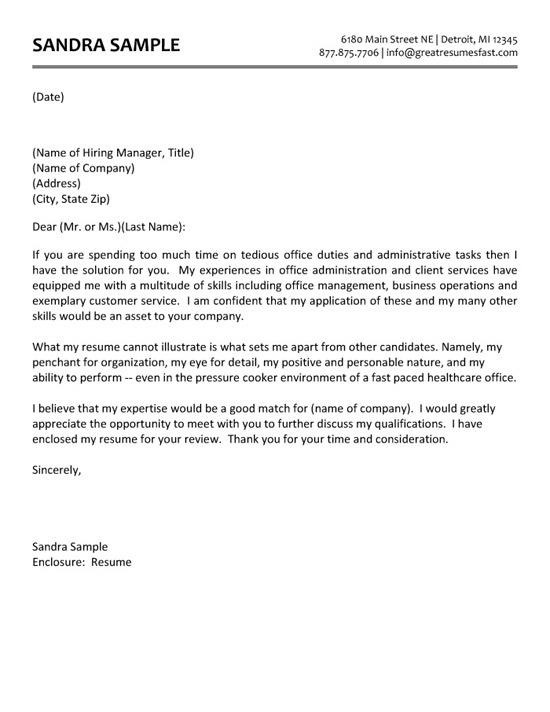 37 Cool Free Cover Letter Examples for Pics