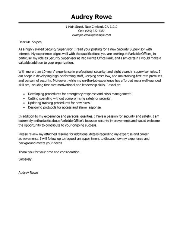 37 Great Security Cover Letter for Graphics