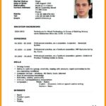37 New English Cv Template for Pics