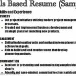 37 Nice Examples Of Skills Based Resume with Pictures