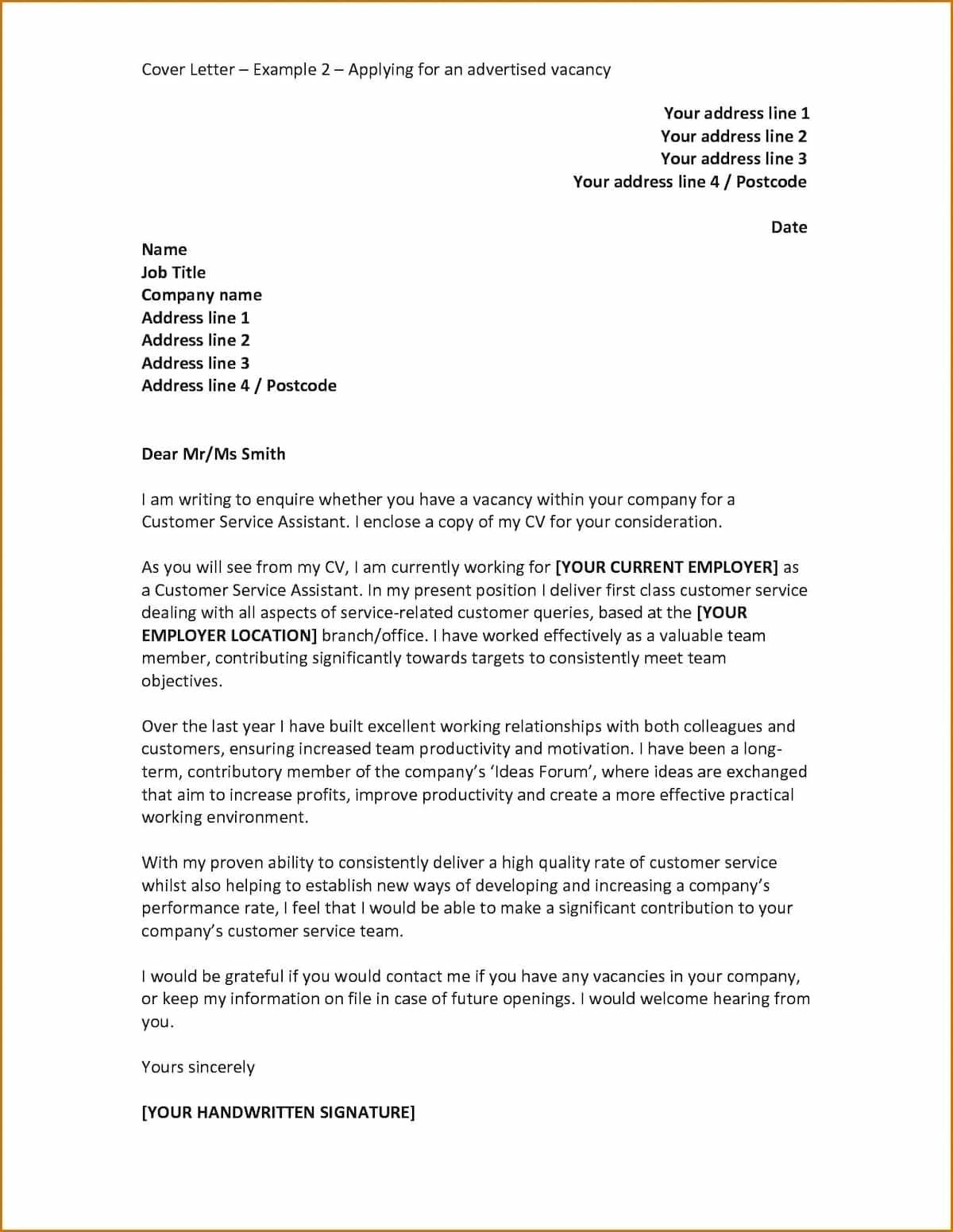 38 Excellent Cover Letter For Employment with Pictures