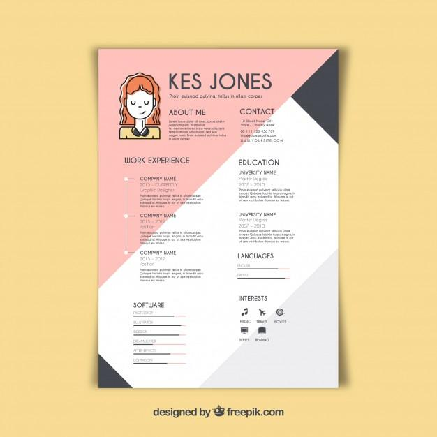 38 Excellent Graphic Resume Template for Pictures