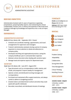 38 Excellent Great Looking Resume Templates for Images