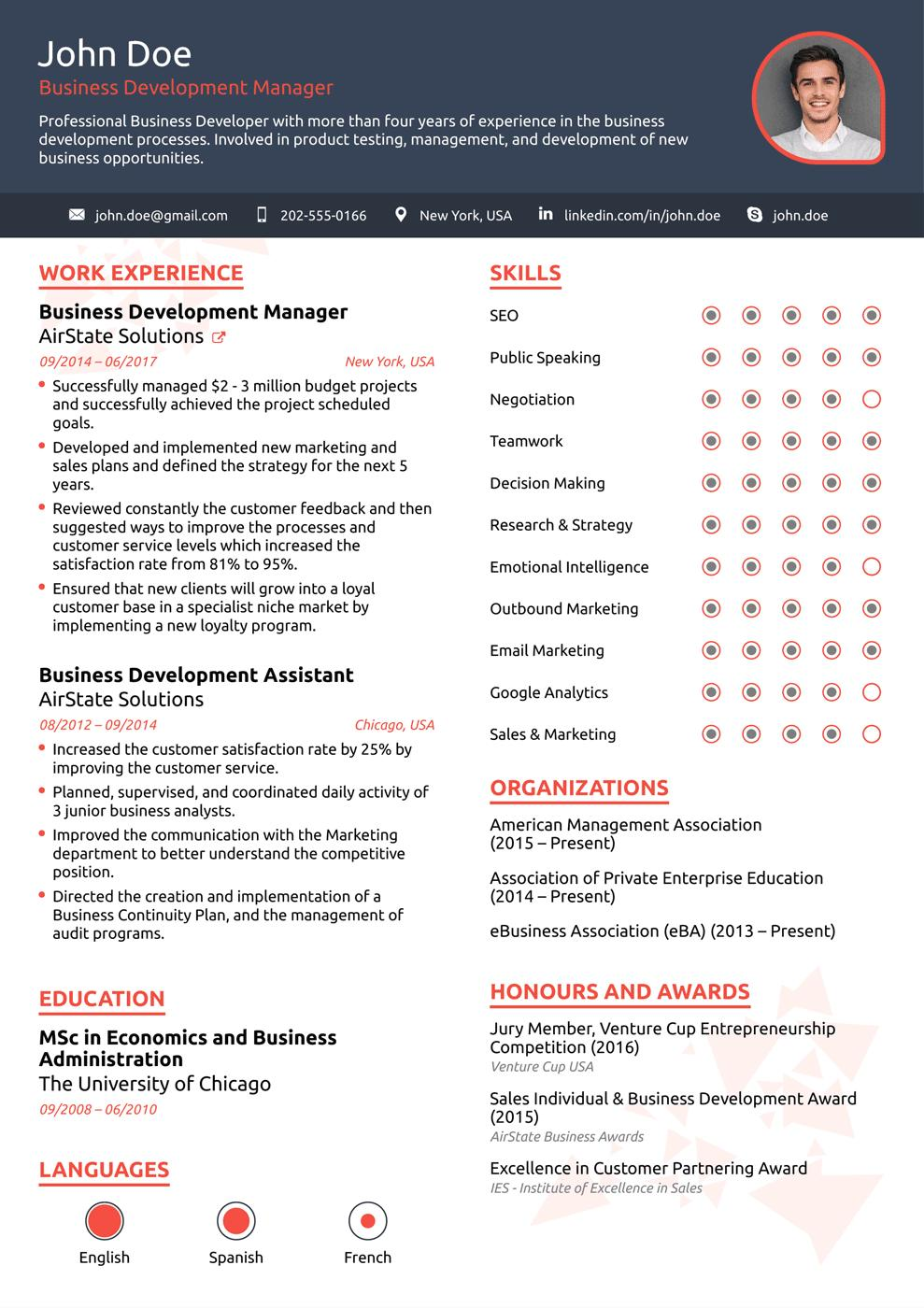 38 Excellent Modern Resume Sample by Gallery