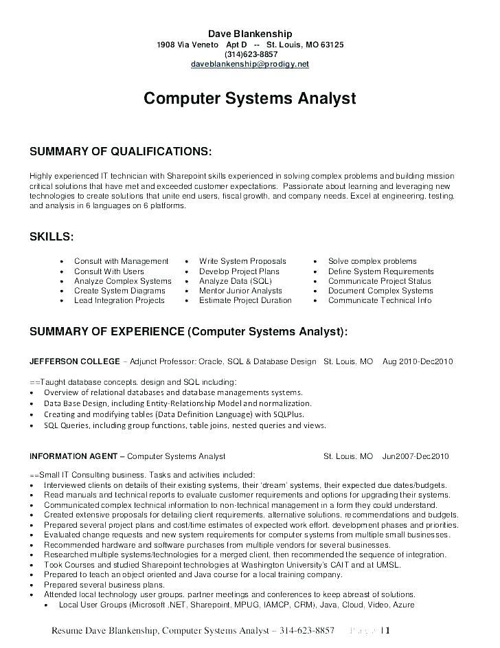 38 Fresh Business Analyst Resume Examples 2018 by Ideas