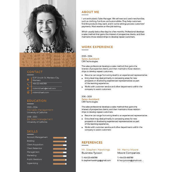 38 Inspirational One Page Cv Word Template with Graphics