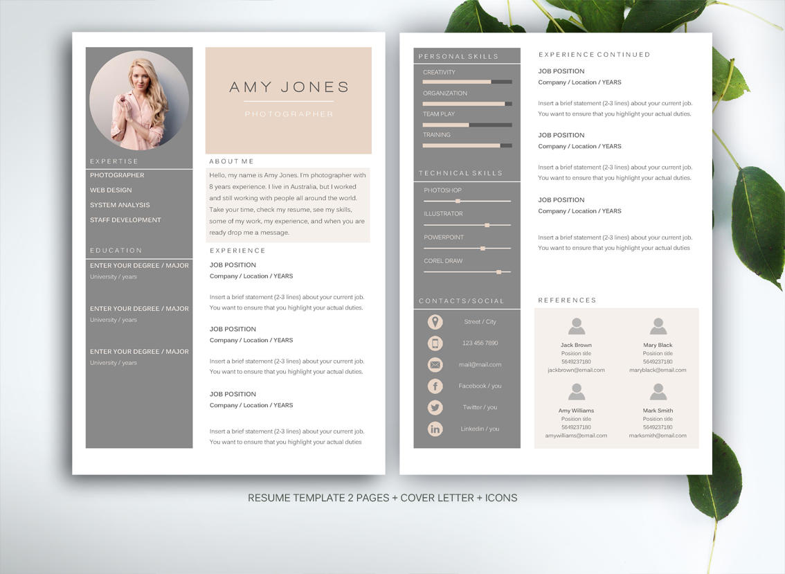 38 New Great Looking Resume Templates by Images