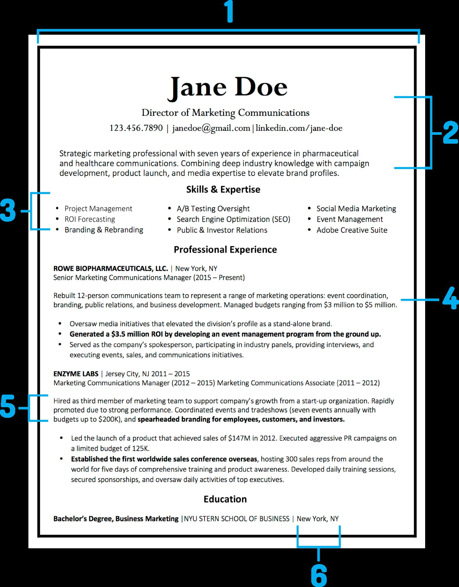 38 Top How A Resume Should Be for Graphics