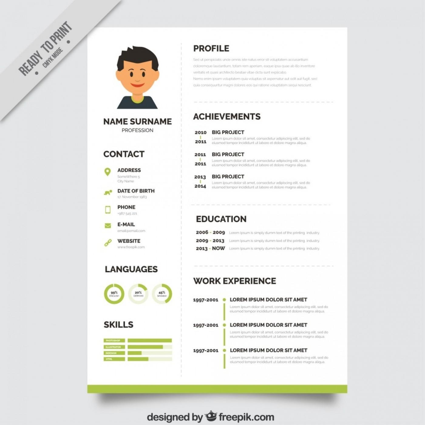 39 Inspirational Cv Template Gratis with Images