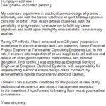39 Inspirational Engineering Cover Letter Examples for Pics
