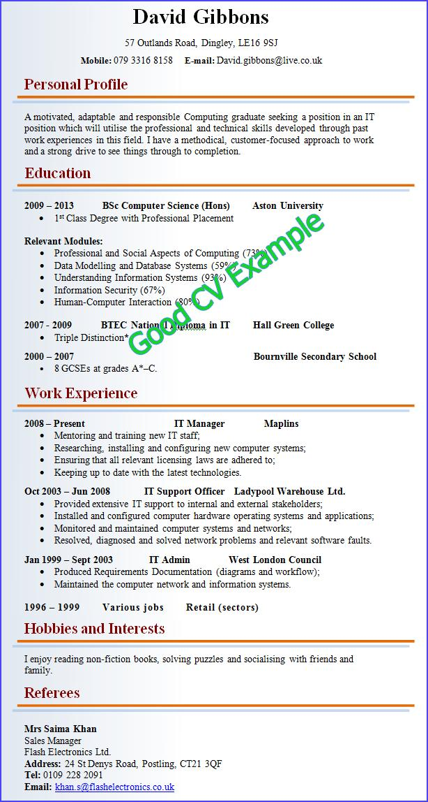 39 Nice Perfect Cv Format with Pictures
