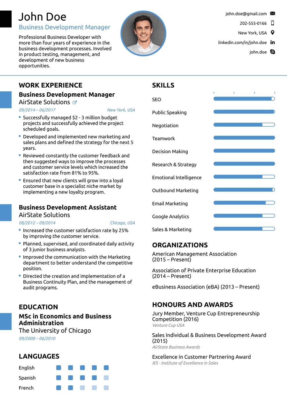 39 Top Sample Resume Format for Pictures
