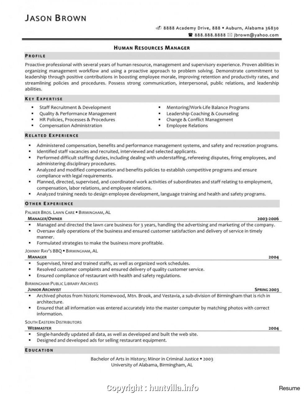 40 Awesome Entry Level Human Resources Resume for Pictures