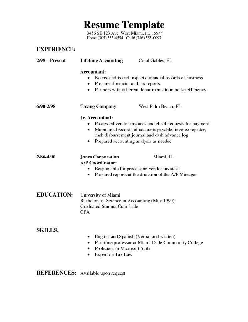 40 Cool Basic Resume Format For Job by Pics