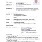 40 Fresh Updated Resume Format for Pictures