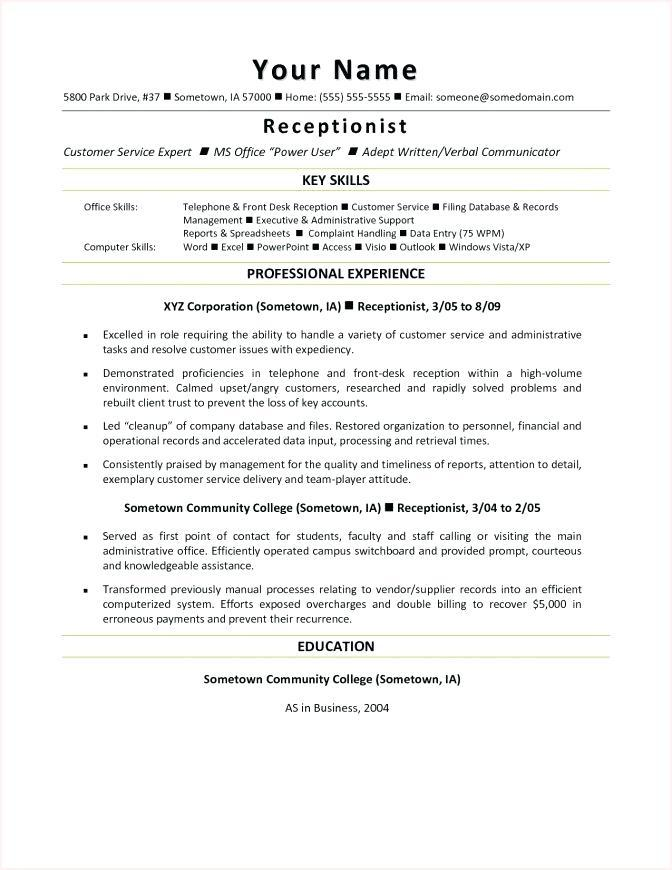 40 Inspirational Medical Front Desk Resume for Design