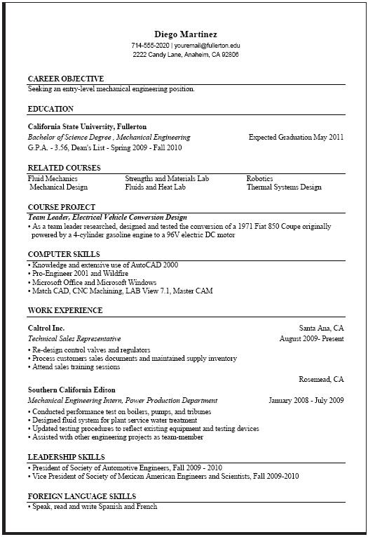 40 Inspirational Sample Resume For Computer Science Engineering Students by Gallery