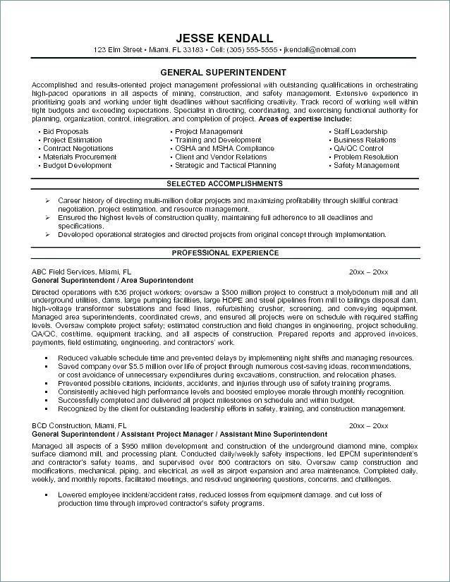 40 New Construction Superintendent Resume Cover Letter Examples for Pictures