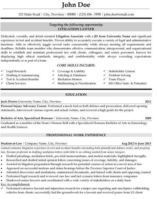 40 Nice Legal Resume Format by Pics