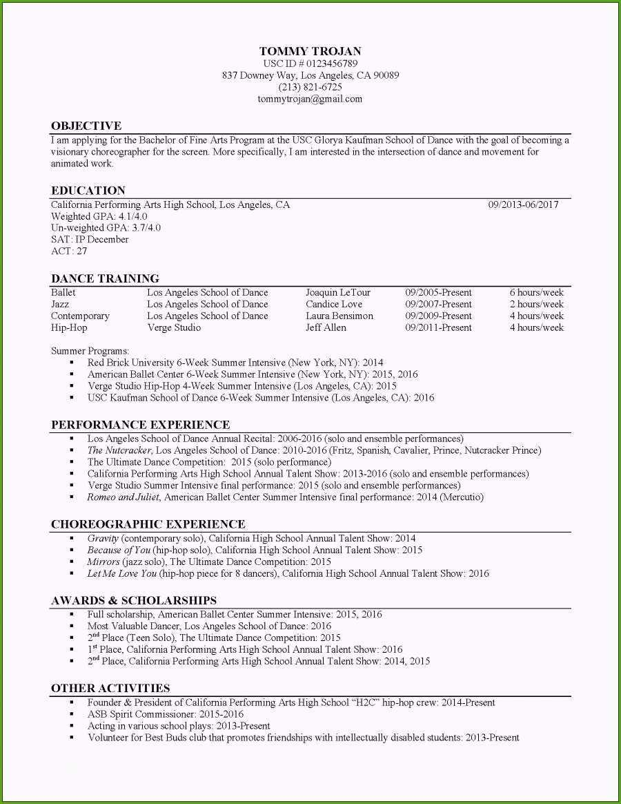 40 Nice Usc Marshall Resume Template with Graphics
