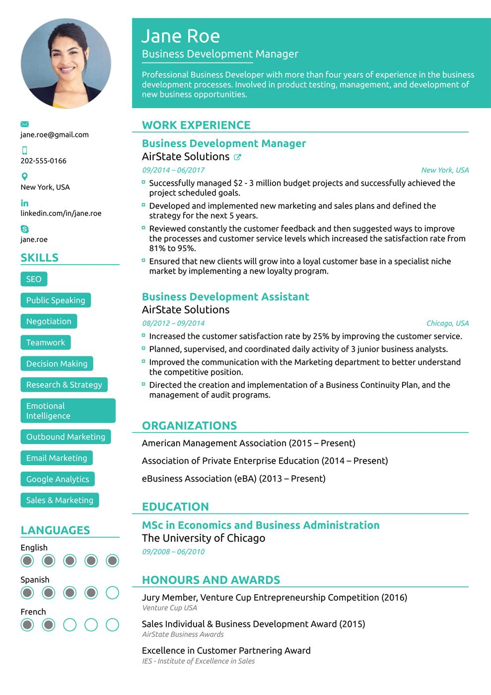 40 Stunning Best Sales Resume Examples 2018 for Images