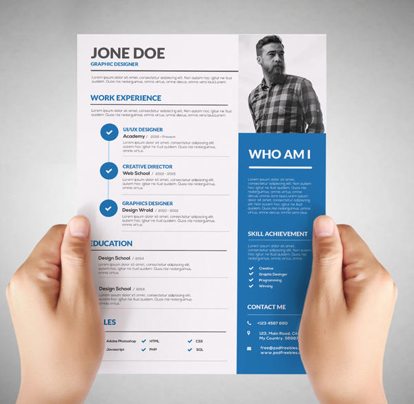 41 Best Free Creative Resume Templates Microsoft Word by Design