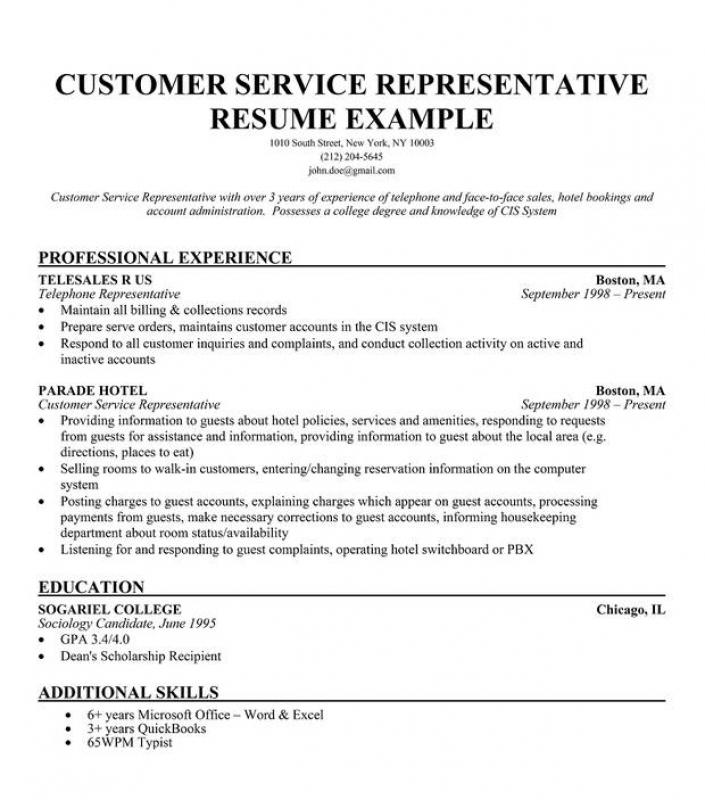 42 Awesome Customer Service Resume Objective Or Summary Examples by Pics