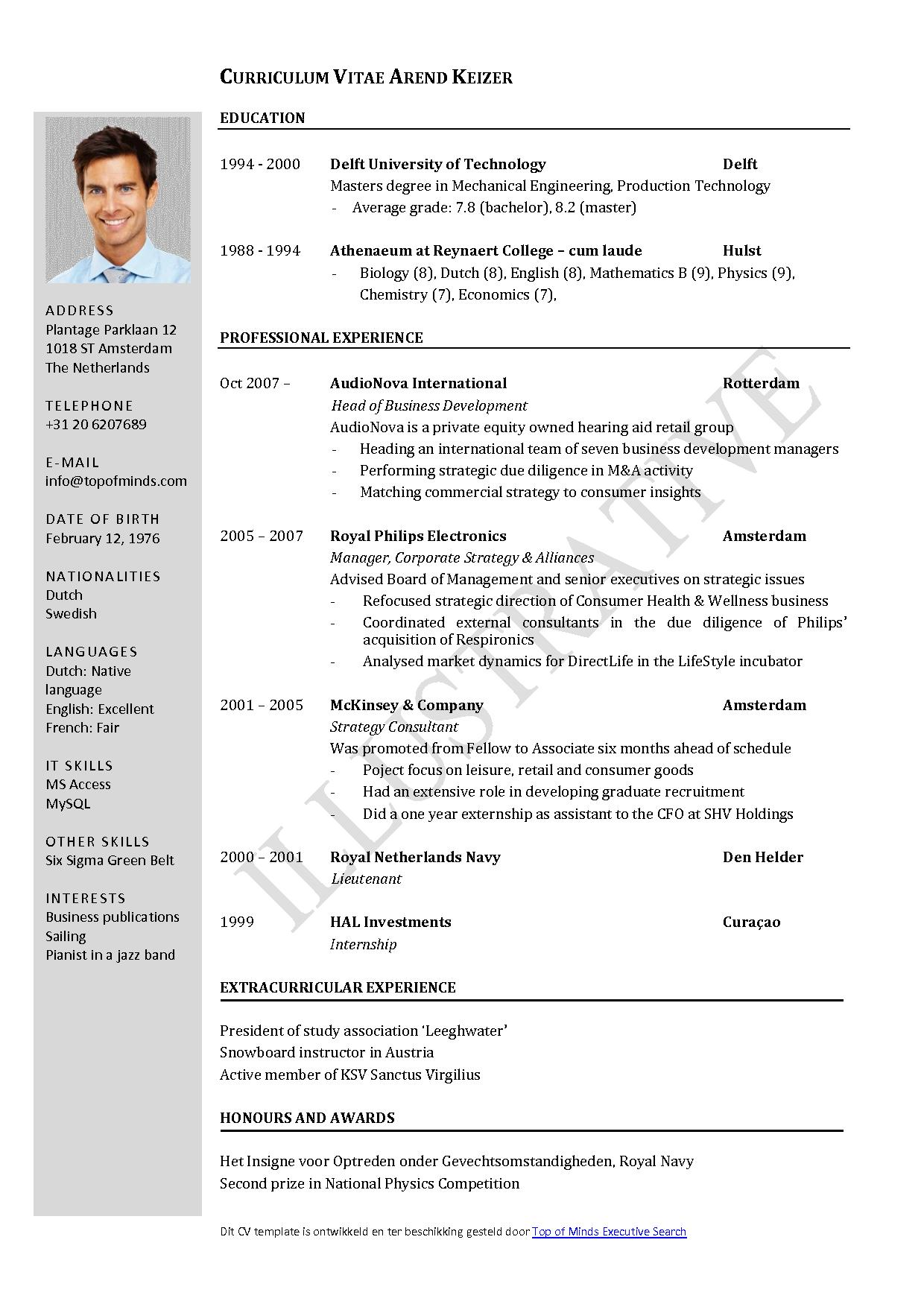 42 Cool Curriculum Vitae Template by Ideas