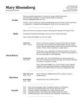 42 Cool Good Resume Layout for Ideas
