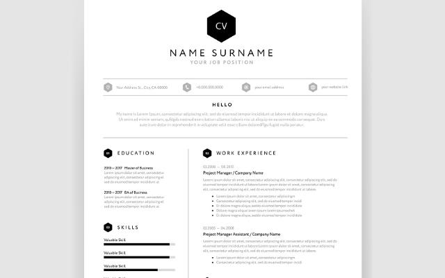 42 Cool One Page Curriculum Vitae by Design