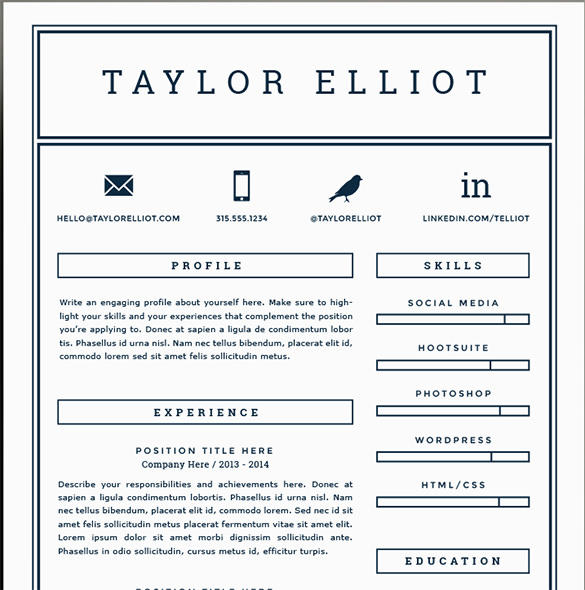 42 Great Free Pages Resume Templates by Ideas