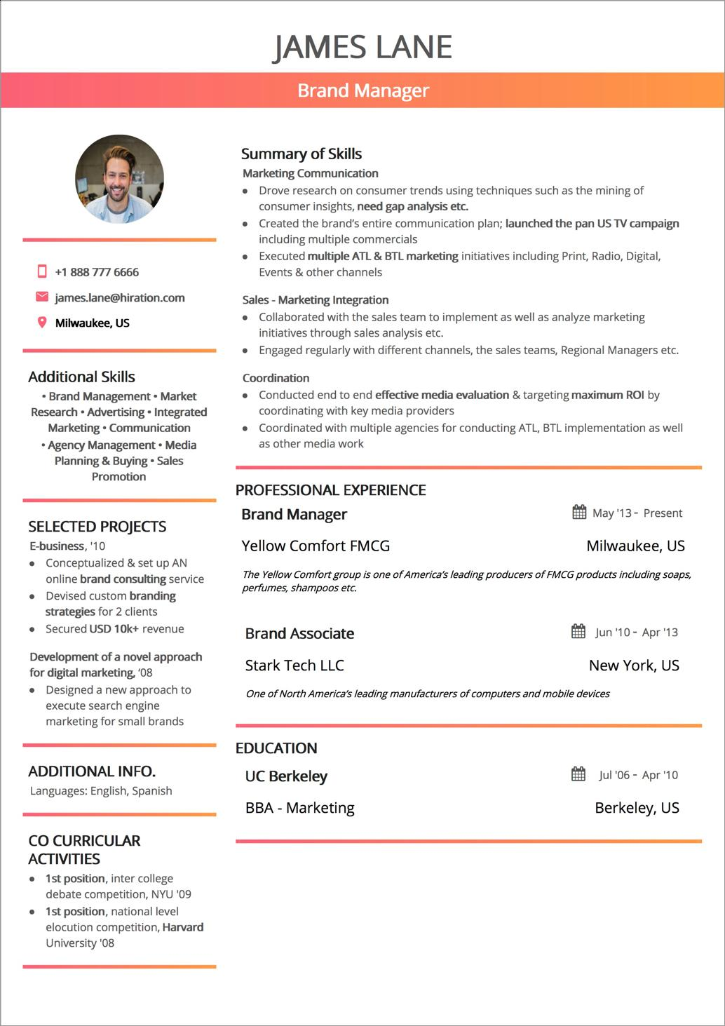 42 Lovely Us Resume Format for Graphics