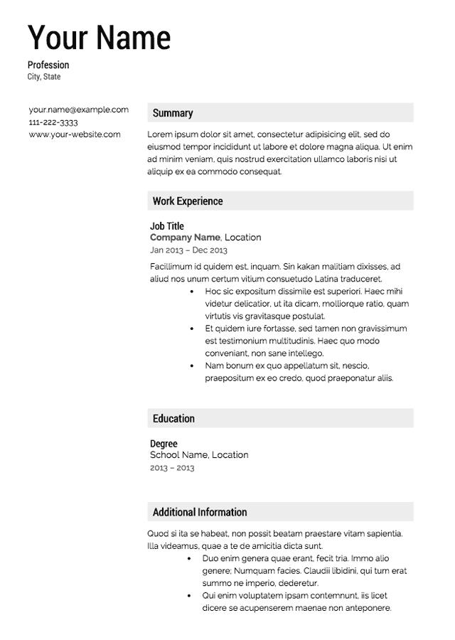 42 New Free Professional Resume Samples with Pics