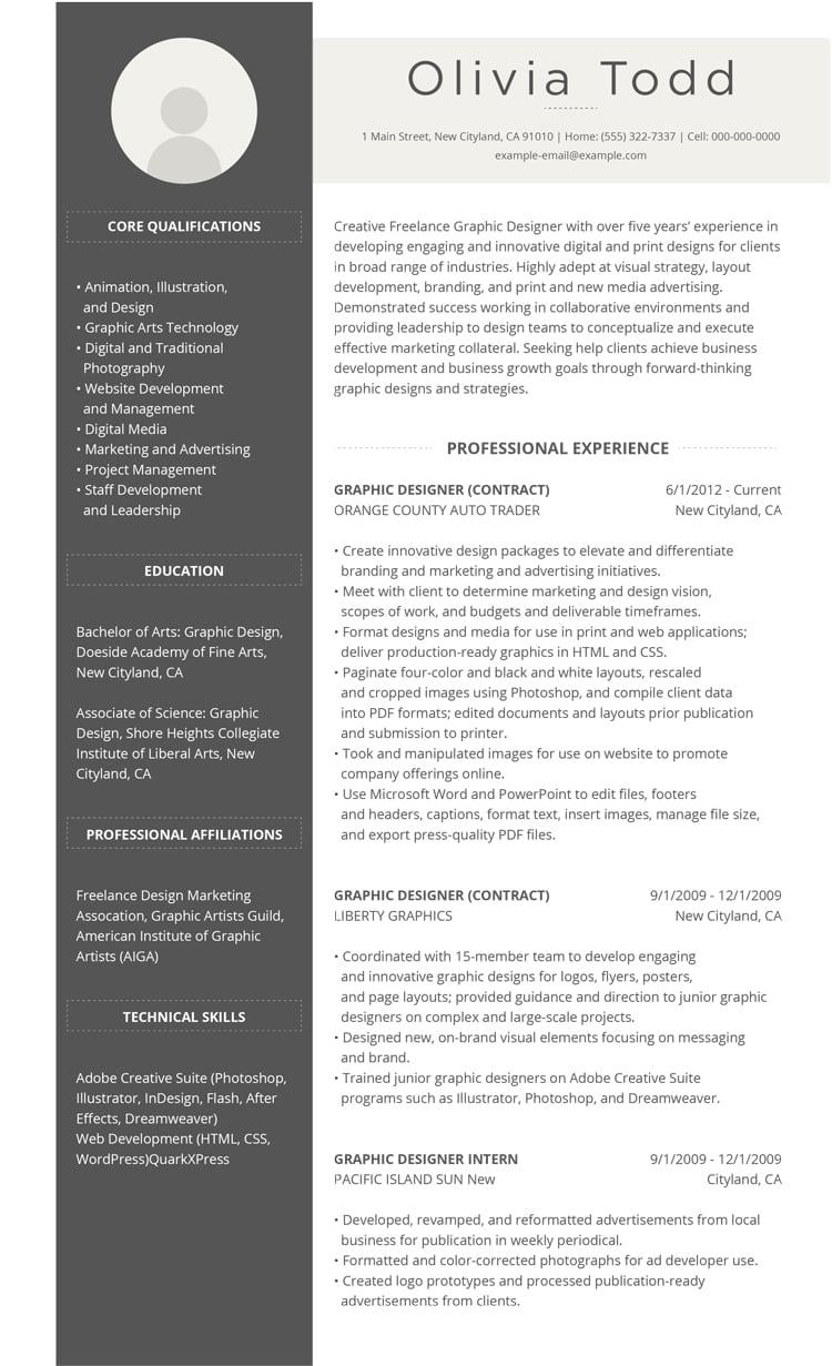 42 New Great Resume Formats with Design