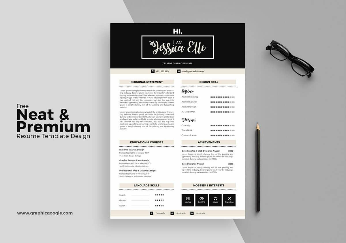 43 Awesome The Best Free Resume Templates with Images