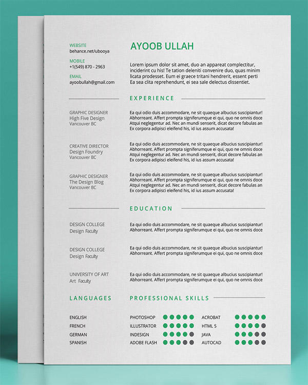 43 Awesome The Best Free Resume Templates with Pictures