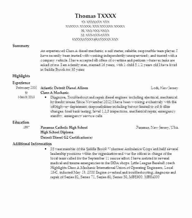 43 Fresh Auto Mechanic Resume Objective Examples by Pictures