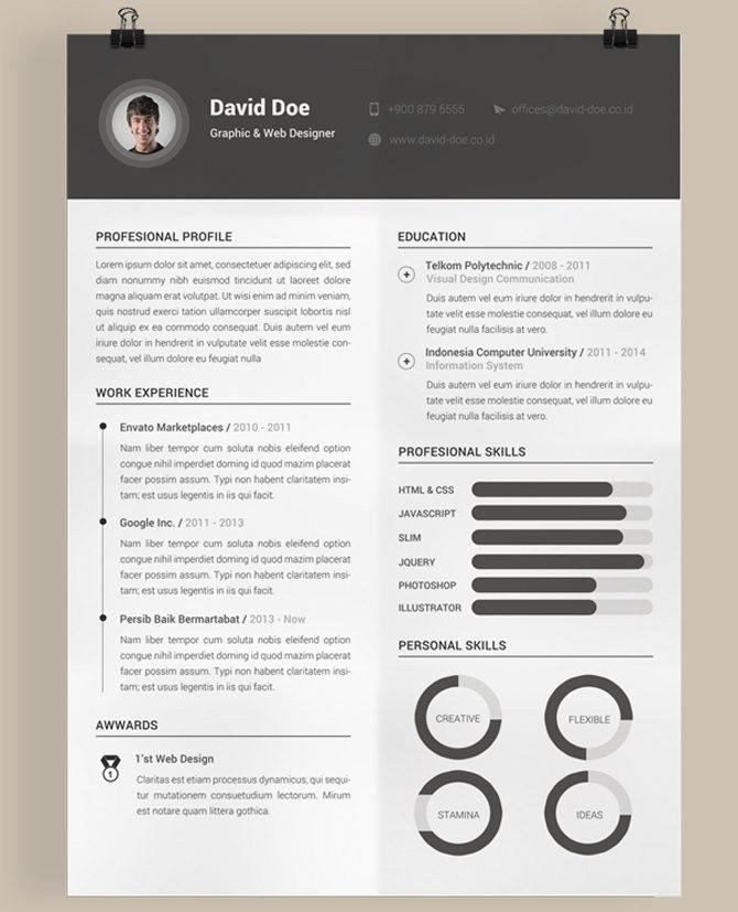 43 Fresh Great Looking Resume Templates for Images