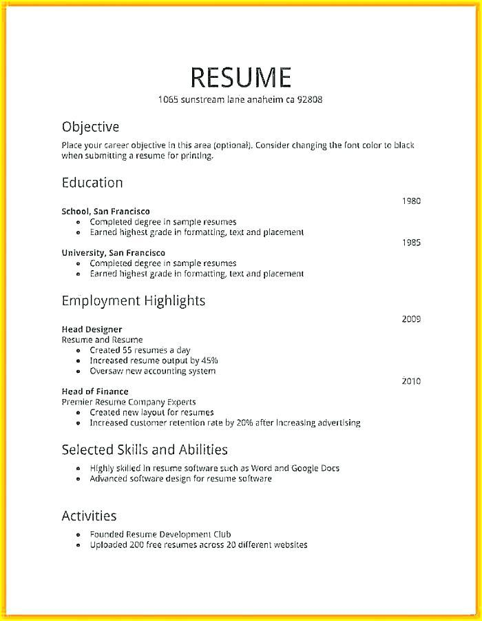 43 Inspirational How Do I Make A Resume by Ideas