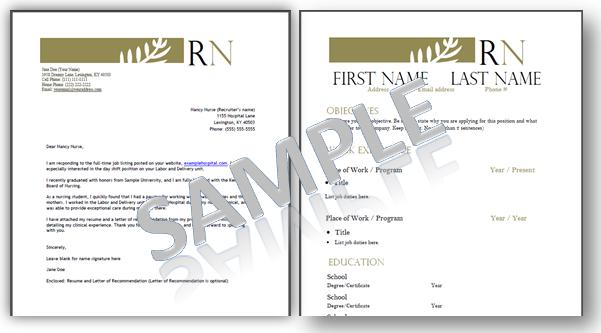 44 Awesome Examples Of Nursing Resume Cover Letters by Gallery