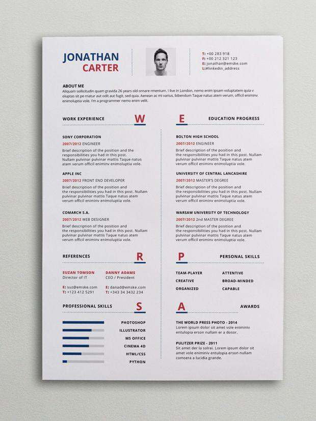 44 Beautiful Modern Curriculum Vitae for Gallery