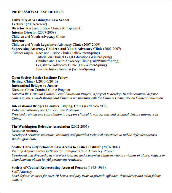 Experienced Attorney Resume Samples Pdf - Www.achance2talk.com